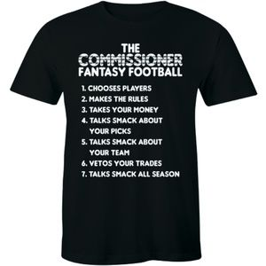 Fantasy Football Draft 2019 Commissioner T-shirt